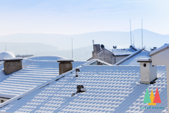 snow in roof